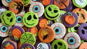 Preview wallpaper background, cookies, halloween, holiday