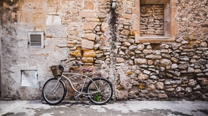 Preview wallpaper bicycle, building, street, wall
