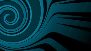 Preview wallpaper abstract, black, blue
