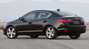 Preview wallpaper 2012, acura, black, cars, ilx, mountains, sedan, side view, style