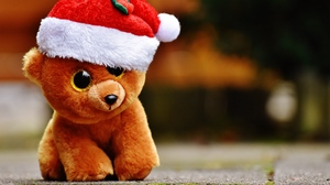 Preview wallpaper christmas, teddy bear, toy
