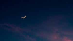 Preview wallpaper clouds, moon, night, sky, stars