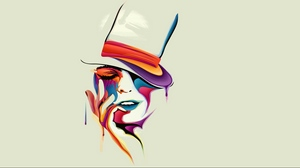 Preview wallpaper amazing, color, drawing, face, paints, vector