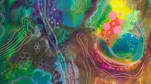 Preview wallpaper abstract, colorful, lines, paint, patterns, watercolor