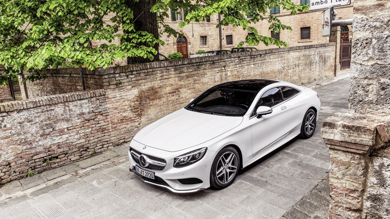 coupe s-class mercedes-benz white