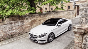 Preview wallpaper coupe, mercedes-benz, s-class, white