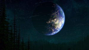Preview wallpaper earth, fantasy, life, planet, trees