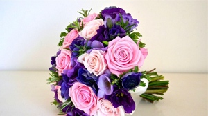 Preview wallpaper beautifully, bouquets, flowers, greens, roses