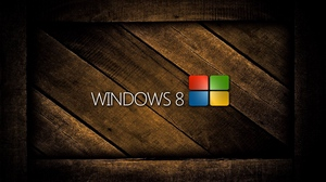 Preview wallpaper colorful, logo, windows 8, wooden
