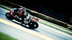 Preview wallpaper motorcyclist, motorsport, movement, outfit