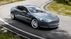 Preview wallpaper 2009, aston martin, gray, rapide, side view, speed