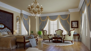Preview wallpaper bed, bedroom, chair, design, furniture, interior, room, style