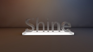 Preview wallpaper glass, shine, sign