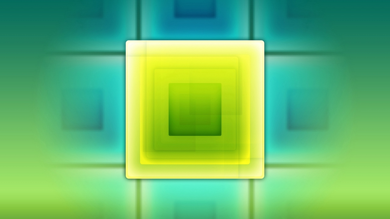 square lines yellow green