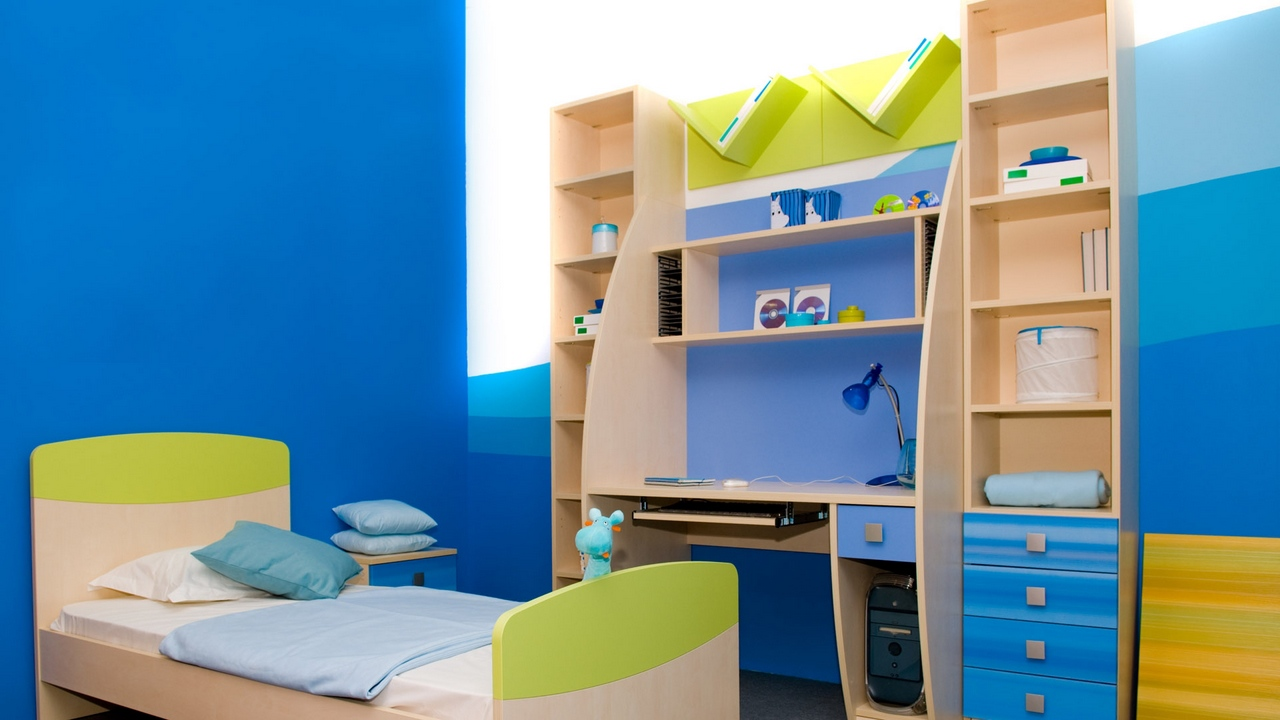 style bed modern childrens room table wardrobe