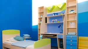 Preview wallpaper bed, childrens room, modern, style, table, wardrobe