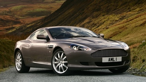 Preview wallpaper 2004, aston martin, cars, db9, metallic gray, nature, side view, style
