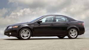 Preview wallpaper 2007, acura, black, cars, clouds, side view, style, tl