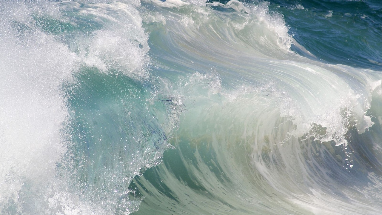 wave force stream water sea