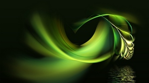 Preview wallpaper abstract, black, green, pen, water, white