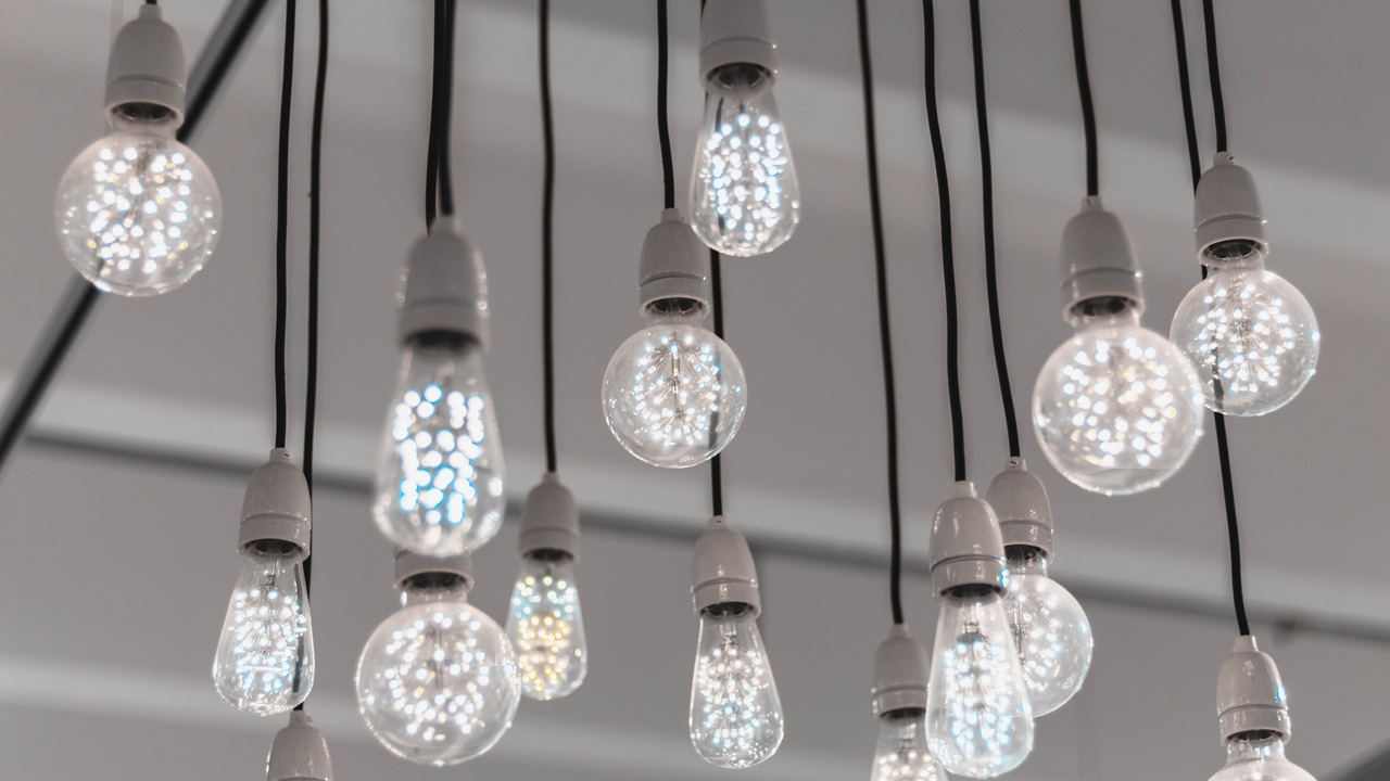 wires light bulbs led electricity light