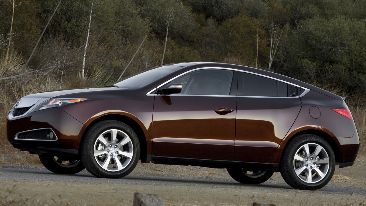 zdx nature 2009 side view shrubs cars acura brown style grass