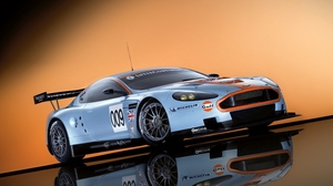 Preview wallpaper 2008, aston martin, cars, dbr9, reflection, side view, sports, style, white