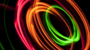 Preview wallpaper abstraction, colorful, light, long exposure, rings