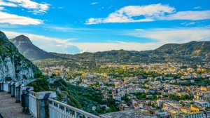Preview wallpaper amalfi, architecture, italy, mountains