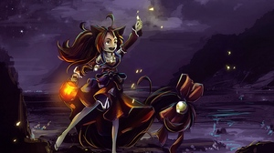 Preview wallpaper art, magic, night, witch
