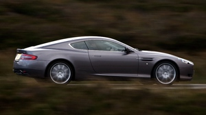 Preview wallpaper 2004, aston martin, cars, db9, gray, nature, side view, speed, style