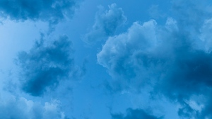 Preview wallpaper atmosphere, blue, clouds, height, sky