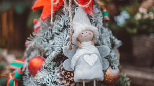 Preview wallpaper christmas, decorations, new year, toys, tree