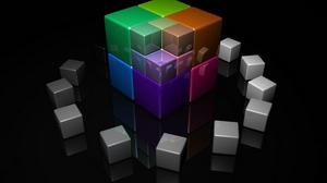 Preview wallpaper bright, colorful, cube, cubes