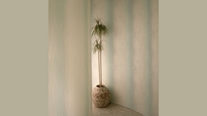Preview wallpaper corner, flowers, striped, vase, wall