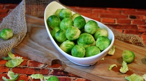 Preview wallpaper brussels sprouts, dish, vegetable