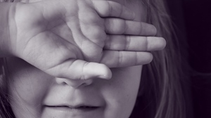 Preview wallpaper child, face, hand