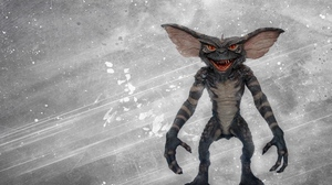 Preview wallpaper background, creature, fangs, gremlin, scratches