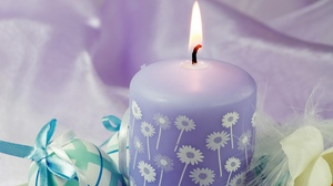 Preview wallpaper candle, easter, eggs, feast, feathers, flowers