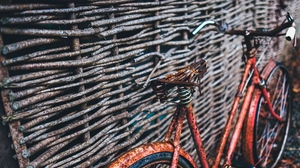 Preview wallpaper bicycle, fence, woven