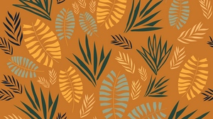 Preview wallpaper branches, fern, grass, leaves, pattern
