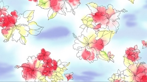 Preview wallpaper background, bright, colors, flowers