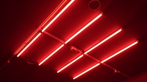 Preview wallpaper glows, neon, red