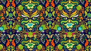 Preview wallpaper bright, ornament, pattern, tangled