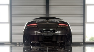 Preview wallpaper 2009, black, cars, mansory cyrus, rear view, reflection, sports, style
