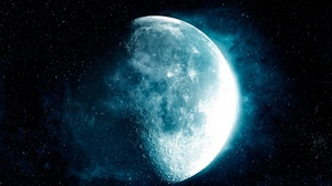 Preview wallpaper moon, satellite, space, stars