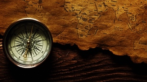 Preview wallpaper compass, map, shadow