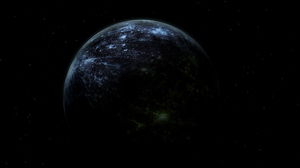 Preview wallpaper dark, planet, shadow, space, stars, universe