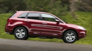 Preview wallpaper acura, cars, jeep, nature, rdx, red, side view, speed