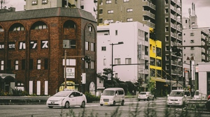 Preview wallpaper cars, city, street, traffic